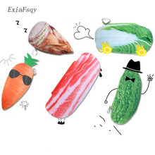 ExiaFsqy Leisure Plush Pencil Case Holiday Farm Fruit Vegetable Large Pencil Bag For Children Office School Supplies 2.13(China)