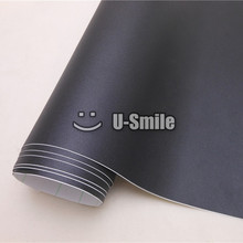 High Quality Black Sandy Vinyl Wrap Film Sticker Decal Air Bubble Free For Phone Laptop Computer Skin Cover Size:1.52*30M(China)