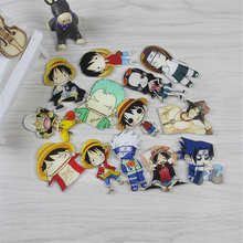 Maritime King and Naruto Cartoon Badge Acrylic Brooch Children/Girl Bag Badge Decorative Rozet Collar Scarf Lapel Bag Pin Broach
