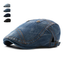 Fashion Jeans Hats for Men Women High Quality Casual Unisex Denim Beret Caps Spring Summer OutDoors Flat Cap for Cowboy(China)