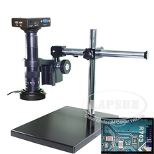 180X Measure Full HD 1080P HDMI VGA Dual Output Industrial Microscope Camera Lens U Disk Storage Picture Mouse Operation Stand