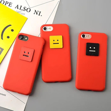 New Hot DIY Funny Colorful Square Smile Face Covers For Iphone 6 6S Plus 7 7 Plus Soft TPU Anti Shock Mobile Phone Case YC2222