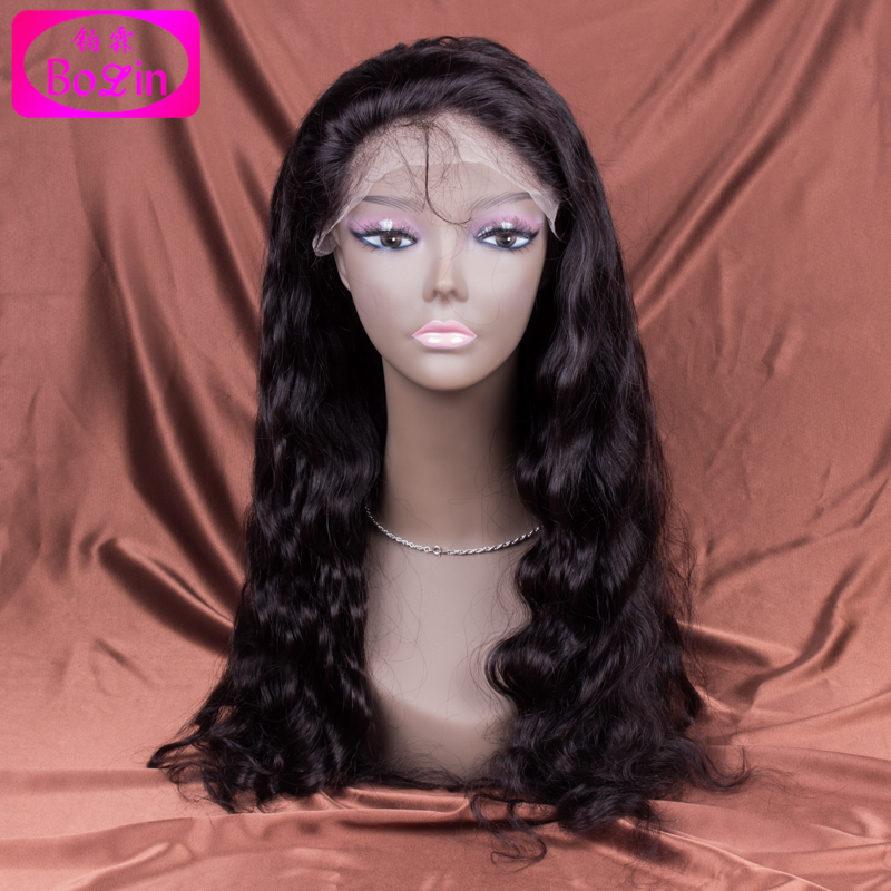 6A Grade wavy Lace Front Wig bleached knots 120% Density Brazilian Human Hair front Lace Wig with baby hair Bolin Hair<br><br>Aliexpress