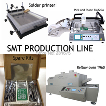 SMT Production Line,SMT Machine,pick and place machine-TM220A+ T960+Stencil Printer + Repair Kits