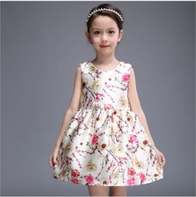 2016 Spring Summer New Little Girls Floral Princess Vest Dress Foreign Trade Children Clothing Kids Sundress Factory Direct G418
