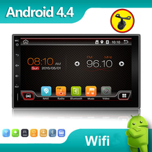 Quad core car dvd android 4.4 double din gps navigation Wifi+Bluetooth+Radio for toyota Hilux VIOS Camry Corolla Prado RAV4 Prad