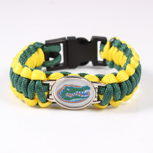 NCAA Florida Gators Football Team Paracord Survival Bracelet Friendship Outdoor Camping Bracelet Drop Shipping 2017