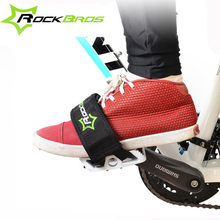 ROCKBROS Cycling Bike Bicycle Cycle Pedals Band Feet Set With Straps Beam Foot Anti-slip Toe Clips Straps For Bike Sports