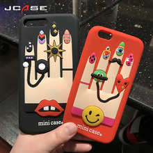New Couples finge Red Cover Cell Phone Cases For iphone 6 6S plus Black Case Cheap Soft Silicone Cover For iphone 7 7Plus Coque