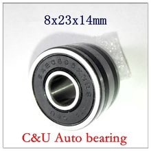 10pcs C&U high speed low noise SAEC608X3-2RS Auto alternator bearing 8*23*14 mm Car dynamo Automotive motor bearings 8x23x14(China)