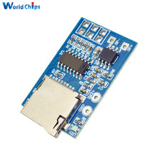 2PCS GPD2846A TF Card MP3 Decoder Board 2W Amplifier Module 3.7V/5V For Arduino GM Power Supply Module Support MP3 FM Radio(China)