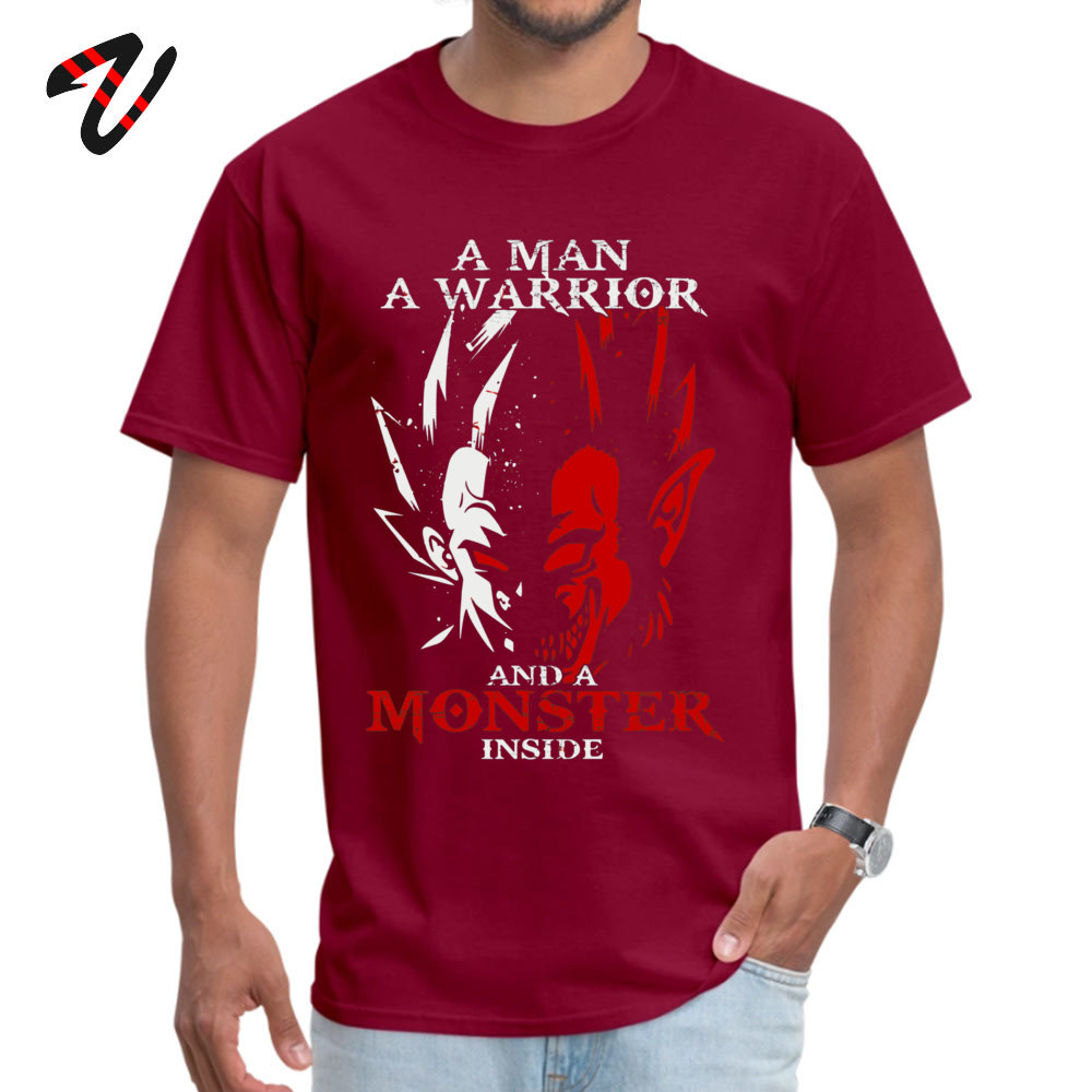 Normal 2018 Popular Student T Shirt Round Collar Short Sleeve 100% Cotton T Shirt Design T Shirt Top Quality Funny Dragonball z Goku and Vegeta Tshirt - Monster Ape Saiyan Dragon Ball  -10904 maroon