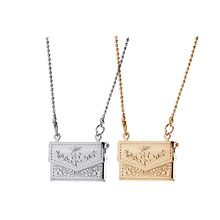 Factory Outlets Open Square Vintage Floating Locket Charms Photos Necklaces & Pendants Gold Fashion Jewelry  A64
