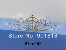 Mixed tiaras 5pcs/lot wholesale crystal tiara headband bridal hair comb accessories headpieces fascinator F2095(China)