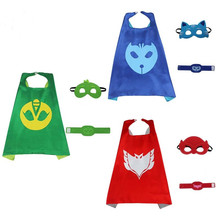 3pcs/set PJ Masks Role-play Cloak and Mask Cosplay Action Toys Owlette Catboy Gecko Cosplay Action Toys for Children