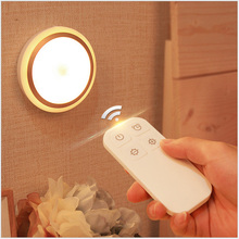 LED IR remote control night lights AAA Battery Powered Anywhere Wall Light for Entrance Hallway Basement Garage Bathroom Cabinet(China)