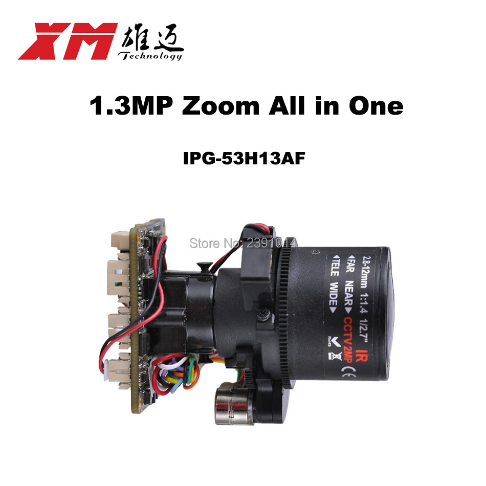 HD 1. 3MP (960P) auto focus 2.8 ~ 12mm X4 Zoom 1/3 CMOS AR0130 + Hi3518C PTZ IP camera module board Support RS485 interface<br>