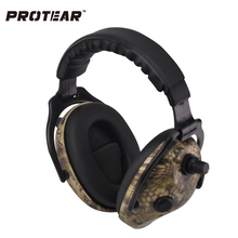 Protear Snake Printed Electronic Ear Protection Shooting Ear Muff Tactical Headset Hearing Ear Protection Ear Muffs for Hunting