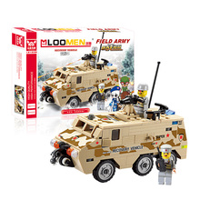 180pcs/set DIY Building Blocks Toy Field Army rescue vehicle Action Figure Deformation Toys Children Educational Christmas gift