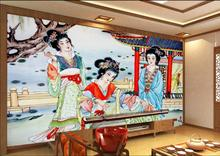 Custom mural photo 3d wall paper picture ancient Chinese beauty had room decor painting 3d wall murals wallpaper for wall 3 d