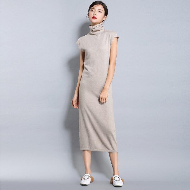Adohon 2017 женщин весна Кашемировые Платья и летом женщины трикотажные Пуловеры Высокое Качество Женские Длинные Твердые Водолазка(China)