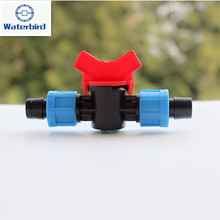 "5/8 Drip Tape Coupler with Red Handle Valve Control or Shut-off Water Supply in 5/8"" Driptape Fittings Drip Irrigation Y113(China)"