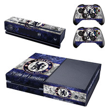 Chelsea Football Club Decal Skin Sticker for Microsoft Xbox One Kinect and Console and 2 Controllers Vinyl Game Stickers