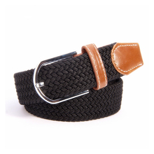 Stretch Woven Unisex Men Women Canvas Belts Knitted Designer Of High Quality Male Elastic Strap Female Fashion Waist Belt