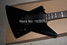 Free Shipping Werewolf Fingerboard+ ESP Custom EMG Active Pickup Black Explore James Hetfield Electric Guitar 14510(China)