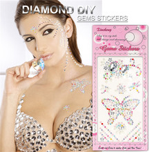 Yaoshun DIY Nail Art 3D Rhinestone Adhesive Stickers Body Photo Car Mobile Phone Decoration Diamond Sticker
