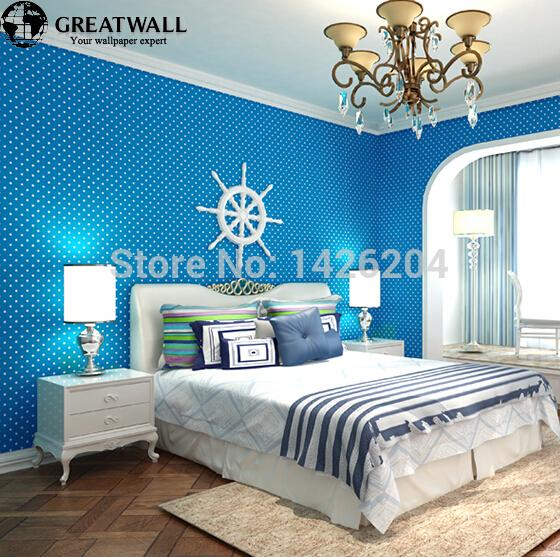 Great wall  Blue Pink Green High-end wallpaper for baby room bedrooms,wallpaper for childrens bedroom,papel de parede infantil<br><br>Aliexpress