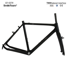 Carbon Road Cyclocross Frame Di2 Compatible Carbon Fiber Cyclocross Frame V-Brake Carbon Cyclocross Frames EMS Free Shipping(China)