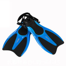 Xuan sea diving short fins swimming flippers madde silicone snorkeling diving shoes essential blue short fins ML-XL code -42/47