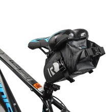 Roswheel Bicycle Bag Full Waterproof Quick-release Road Bike Rear Seat Tail Bag Reflective Bike Saddle Bag High End Cycling Pack