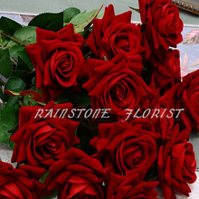 60CM Large Fabric Artificial Rose Flower Wedding Favor Home Church Decor Marriage Anniversary Supplier Red White flores(China)