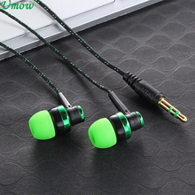 MP3 MP4 Subwoofer Braided Rope Wire Cloth Rope Earplug Noise Isolating Earphone