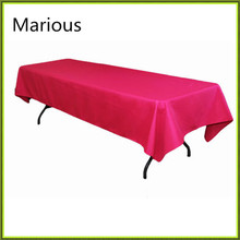 Marious wedding tablecloth polyester rectangle table cloth Marious cheap for wedding decor. free shipping(China)