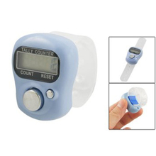 Best Selling Light Blue Case 5 Digit LCD Electronic Finger Counter Hand Tally