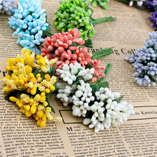 12PCS/lot party Artificial Flower Stamen wire stem/marriage leaves stamen DIY wreath wedding box decoration Fake flower