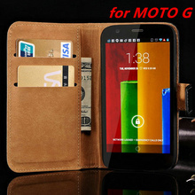 1032 Case for Motorola G MOTO G1 XT1032 Leather Cases Flip Stand Design Phone Back Cover Wallet With Card Slot Book Style black(China)
