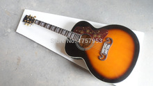 custom guitar factory new Top Quality Vintage Sunburst acoustic guitar fishman 101 EQ guitar pickup Free Shipping j200(China)