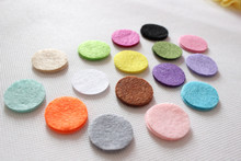 DIY 2.5CM Felt circle Round fabric pads accessory, fabric flower accessories for hair flower 1000PCS(China)