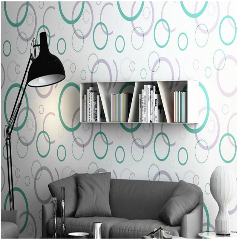 beibehang TV backdrop living room thickening non-woven circle wallpaper wallpaper bedroom wall wallpaper 3d indoor wallpaper<br>