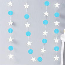 4M Long Holiday Party Paper Garland Wall Hanging Wedding Room Classroom Decor Wall Decorations Ornaments Curtain String Chain