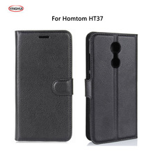 "Buy YINGHUI Doogee Homtom HT37 5.0"" Case Luxury PU Leather Back Cover Homtom HT37 Pro Case Flip Protective Phone Bags Skin for $3.39 in AliExpress store"