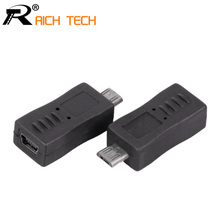 3pcs USB CONNECTOR Micro usb male plug to mini USB 5pin female jack connector tablet computer adapter electrical parts(China)