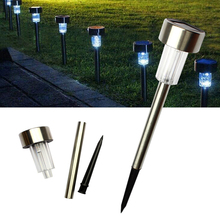 1PCS Stainless Steel Solar Lawn Light Garden Solar Power Light Outdoor Solar Lamp For Outdoor Landscape Yard Deck Pathway(China)