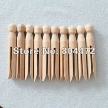 10 x Top Quality Natural wood dolly peg Traditional Dolly Style Wooden Clothes Pegs New Good Condition Wedding party decoration