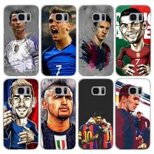 G487 Fashion Football Superstar Transparent Hard PC Case Cover For Samsung Galaxy S 3 4 5 6 7 8 Mini Edge Plus Note 3 4 5 8