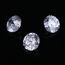 Hearts and Arrows 1MM-12MM AAA Grade White Clear Round Cubic Zirconia Stones Loose Synthetic Gems For Jewelry DIY Wax Setting